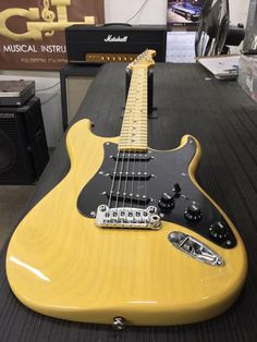 Legacy in Butterscotch Blonde over swamp ash