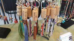 Wine cork key chains  by Artzy Creations  $15. each