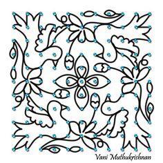 Simple Flower Design, Simple Flowers, Flower Designs, Indian Rangoli, Kolam Rangoli, Rangoli With Dots, Siri, Projects To Try, Drawings