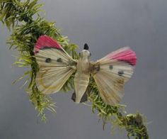 AntiquesGermany - Schmetterling mit Glasseidenflügel ~ 1910