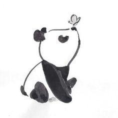 Cute little panda - ideas for drawings - # for . - Cute little panda – ideas for drawings – pie - Disney Art Drawings, Pencil Art Drawings, Art Drawings Sketches, Kawaii Drawings, Easy Drawings, Cute Little Drawings, Simple Animal Drawings, Adorable Drawings, Cute Animal Drawings Kawaii
