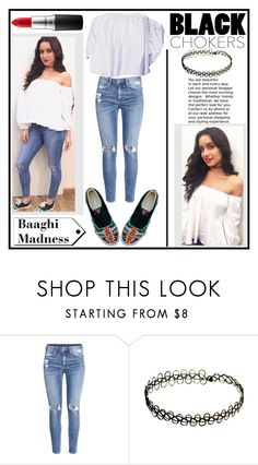 """""""Shraddha Kapoor"""" by fatimahkk ❤ liked on Polyvore featuring H&M and MAC Cosmetics"""