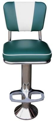 Vintage Counter Stool Counter Stools The commercial grade Vintage Counter Stool is a classic! Manufactured with chrome plated steel with your choice of any seat height between 18 and 30 . Choose from 3 floor attachments and a variety of Retro Bar Stools, Retro Table, Wood Bar Stools, Swivel Bar Stools, Counter Stools With Backs, Counter Bar Stools, Restaurant Bar Stools, Retro Diner, Most Comfortable Office Chair