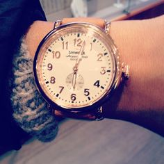 'The Runwell' 41mm Rose Gold Shinola Watch, made in Detroit, MI, USA