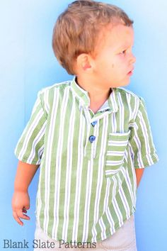 Prepster Pullover shirt sewing pattern for boys and girls by Blank Slate Patterns NOT FREE