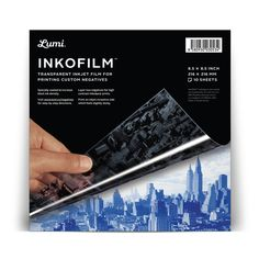 Convert your favorite image into a negative, and print it on thisinkjet film.Thenapply it to a natural textilelike a cotton tee using aspecial light-sensitive textile dye. Wash away the unexposed dye with the specially developed Inkowash detergent,  $30