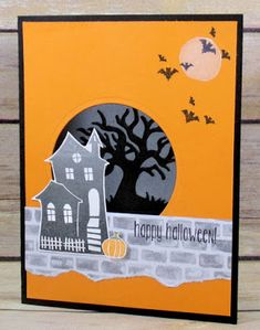 Get complete instructions on how to make this card in the blog post - Stampin' Up! Halloween Scares & Spooky Fun - CPC 63 - Create With Christy: Halloween Scares Meets Spooky Fun