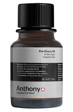 Anthony Logistics For Men® Pre-Shave Oil available at #Nordstrom great on legs and bikini