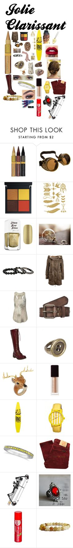 """""""Jolie the Brown eyed Chick!"""" by thepinkandpurplerainbow ❤ liked on Polyvore featuring Physicians Formula, Formula X, AllSaints, Scotch Shrunk, Forever 21, Nach Bijoux, Kevyn Aucoin, Lime Crime, Maybelline and Boum"""