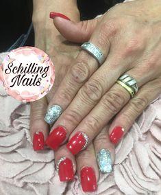 """Diseños : """"Uñas acrílicas esculpidas + esmaltado permanente y cristales swarovski💅🏻 Nails, Beauty, Enamels, Swarovski Crystals, Fingernail Designs, Finger Nails, Ongles, Beauty Illustration, Nail"""