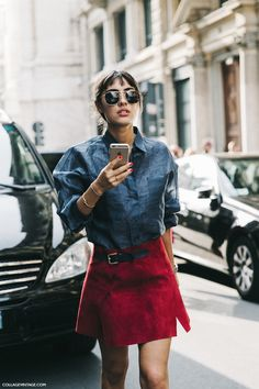MILAN FASHION WEEK STREET STYLE #4 | Collage Vintage