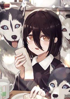 Anime Ai, Fanarts Anime, Anime Manga, Anime Characters, Dengeki Daisy Manga, Goth Art, Animation, Anime Artwork, Cute Anime Character