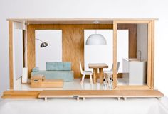 Minilo modern designer dollhouse makes the perfect place for your princess to play