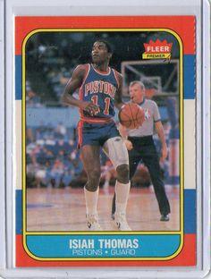 1986 Fleer Isiah Thomas Rookie Card Detroit Pistons #DetroitPistons