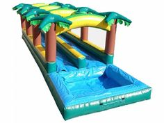 Find Hawaiian Slip And Slide Double Lane W Pool? Yes, Get What You Want From Here, Higher quality, Lower price, Fast delivery, Safe Transactions, All kinds of inflatable products for sale - East Inflatables UK