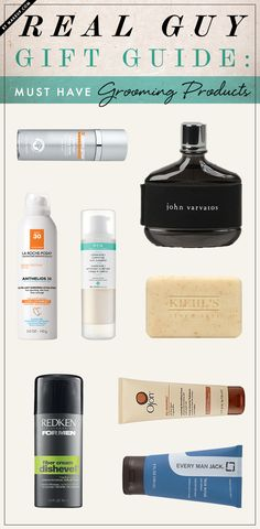 gift guide: must-have grooming products for men