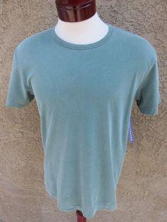 VelvetMen Velvet by Graham & Spencer T-Shirt Grey Green M NWT $59 Vintage Wash #Velvet #BasicTee