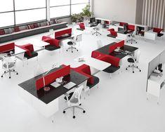 Public Office Landscape Hives. Espacios de trabajo transitorios de grupales a individuales. Disfruta del Living Office solo en Mober!