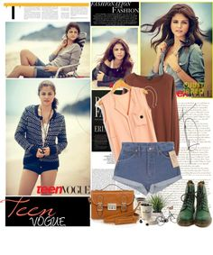 """Selena Gomez (Teen Vogue)"" by i-do-have-a-ch0ice-fash10n ❤ liked on Polyvore"