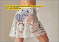 crochet fabric , CROCHET - GANCHILLO - PATRONES - GRAFICOS: WOVEN SKIRT CROCHET WITH ITS PATTERNS