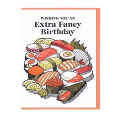 FANCY SUSHI BIRTHDAY Letterpress Card
