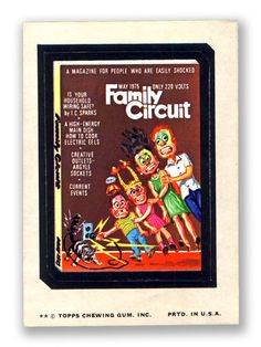 Family Circuit - Topps Wacky Packages 11th Series 1974
