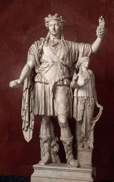 Figure of Bacchus/Dionysus Roman copy, 2nd century CE, after Greek original. Late 4th-early 3rd century BCE. Marble.