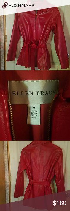 Ellen Tracy leather jacket Beatiful jacket, very soft leather, just worn few times ❤ Ellen Tracy Jackets & Coats Blazers
