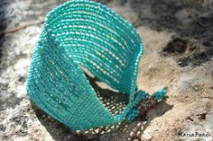 Sky Dreams Chunky Turquoise Bead woven Cuff /  by CallOfEarth, $87.00