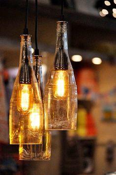 Formas inteligentes de utilizar sus botellas de vino antiguas (5)