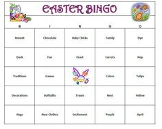 easter party bingo a fun way to keep the party going after all the eggs are found includes 60 unique cards easter theme words bingo patterns