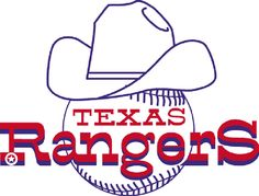 Texas Rangers, 40th Anniversary, 1972 - 2012. This was the first logo of the Texas Rangers Baseball Team.