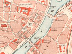 Items similar to Szczecin / Stettin Antique City Map from 1897 \\ Antique Lithograph Print \\ German, Vintage Illustration, Old maps on Etsy