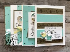 Fancy Fold Cards, Folded Cards, Card Kit, Card Tags, Chocolate Card, Chocolate Cookies, Coffee Cards, Paper Supplies, Stamping Up