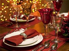 Christmas table settings ideas
