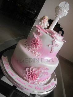 """Blessed""- First Holy Communion Cake"