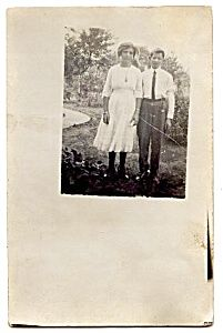 First Date or Brother/Sis? Real Photo Postcard