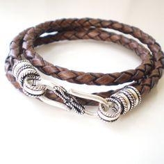 Leather wrap bracelet.