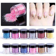 3383c9dab1 1 Box 10ml Mixed Nail Art Glitter Powder Sequins Nail Art Decor Accessories  ZJC