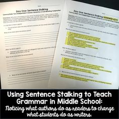 Six Reasons to Use Mentor Sentences to Build Student Writers