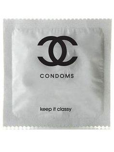 chanel condom, keep it classy