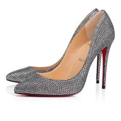 e74423366b50 NIB LOUBOUTIN PIGALLE FOLLIES 100 ANTIC SILVER DIAMS GLITTER CLASSIC PUMPS  37.5  fashion  clothing