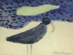 Milton Avery (US Bird and Sandspit, oil on card, The Fitzwilliam Museum, Cambridge, England. Mark Rothko, Henri Matisse, Gouache, Post Impressionism, Bird Pictures, Art Uk, Your Paintings, Portraits, Bird Art