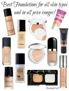 Best foundations for all skin types!