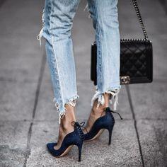 "Erica Hoida • FashionedChic on Instagram: ""Monday blues @rupertsanderson || links and details on FashionedChic.com/DailyDetails"""