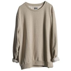 Morgan Sweater Beige Melange - Weekday ❤ liked on Polyvore featuring tops, sweaters, jumpers, shirts, boy, beige top, beige shirt, mtwtfss weekday, shirts & tops and brown shirt