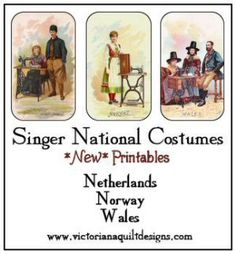Printable Singer National Costumes Pictures