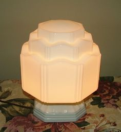 Art Deco light fixture. One like this is hanging in our hallway.