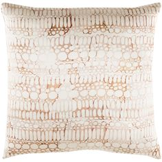 This new Natural Affinity pillow by designer @shellrummel for Surya is made of 100% silk and features a mix of softly serene, organic concepts and quietly elegant designs (NTA-009).