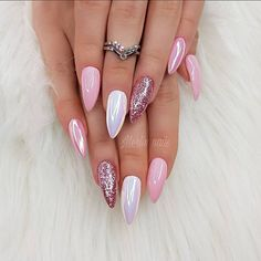 21 amazing ideas how to ombre nails for your inspiration 50 Girls Nail Designs, Creative Nail Designs, Nail Art Designs, Baby Girl Nails, Girls Nails, Classy Nails, Cute Nails, Calgel Nails, Pink Chrome Nails